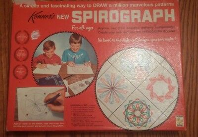 Vintage 1967 Kenner's Spirograph Set No. 401 Nearly Complete - Needs New  Pens