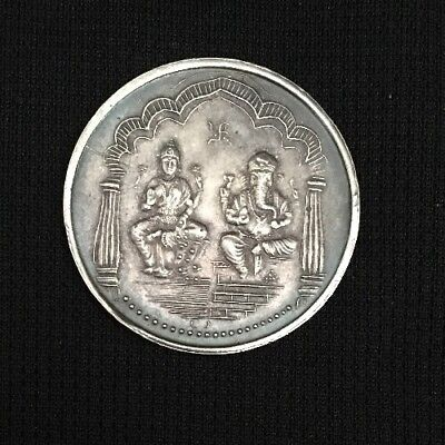 Ganesha 100% Pure Silver RSJ medal silver coin art Collectable Vintage Indian