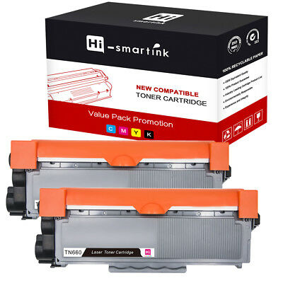 2 PK High Yield Toner Cartridge for Brother DCP-L2540DW Compatible TN630 TN660