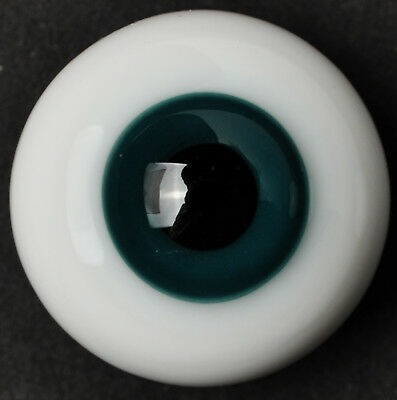Nice Thickened FlatBack SeaBlue Iris Glass 22mm BJD Eyes for Reborn Doll