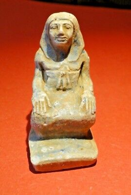 Beautiful Ancient Egyptian Pharaoh Amulet circa. 300 B.C.