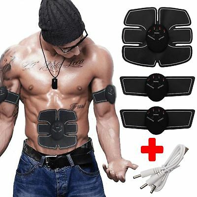 Smart ABS EMS-Bauchmuskel Six pack Muskeltrainer Fitness Fernbedienung USB