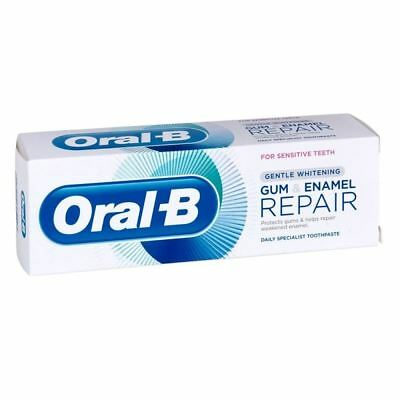 Oral B Gum & Enamel Repair Gentle Whitening Sensitive Teeth 75ml 1 2 3 6 12 Pk