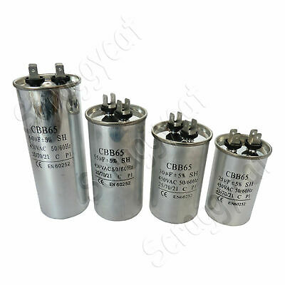 CBB65 Metal Capacitor 25uf, 30uf, 55uf, 60uf For Motor Air Pump Air Conditioning