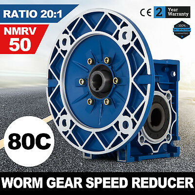 NMRV050 Worm Gear Ratio 20:1 80C Speed Reducer Gearbox Update Durable Modern