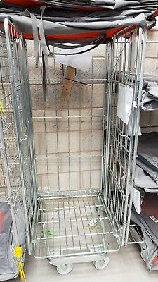 Used Warehouse Supermarket Roll Cage (Storage or goods in)- single shelf  (Crewe)