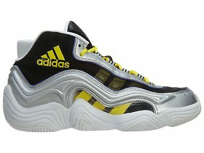 detailed pictures 978e7 ec20e Adidas Crazy 2 Mens S83922 Silver Metal Yellow Flash Basketball Shoes Size  10.5