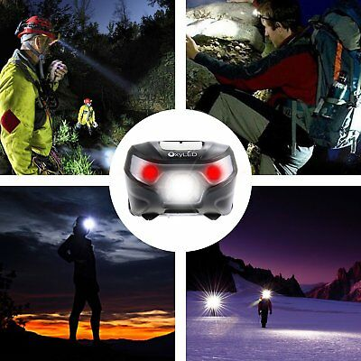 Waterproof OxyLED USB Rechargeable Headlight LED Headlamps For Camping,Hiking