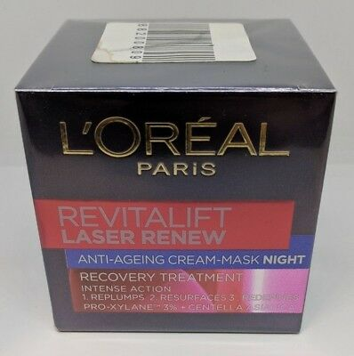 L'Oreal Revitalift Laser Renew Night 50ml Cream Anti Ageing Face Mask - NEW