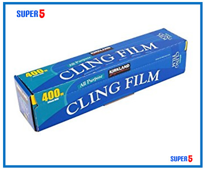 Cling Film 400 Metres | Kirkland Signature | Catering Size 400m x 345mm Wide