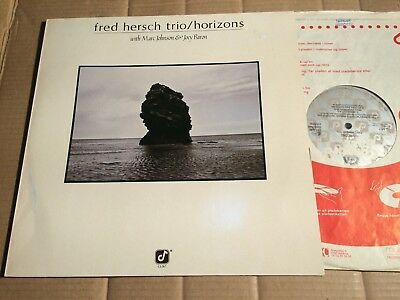 FRED HERSCH TRIO (with MARC JOHNSON & JOEY BARON) - HORIZONS - LP - GERMANY 1985