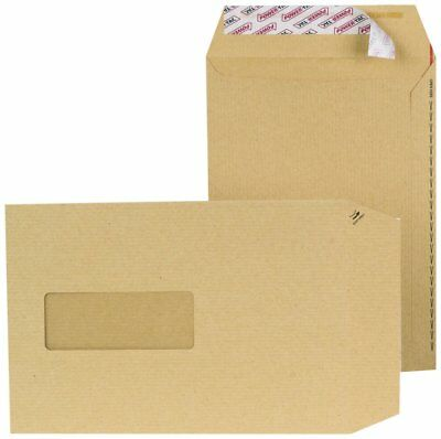 New Guardian 130 gsm Easy-Open C5 Window Manilla Peel and Seal Envelopes (Pac...