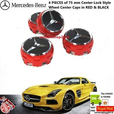 Replacement Oem Mercedes Amg Alloy Wheel Hub Centre Caps 75Mm A B C E S Ml Class