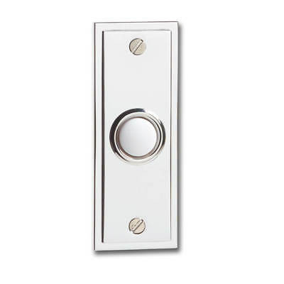 Greenbrook Dp050Ac Chrome Plate Bell Push Suitable For All Hard Wired Doorchimes