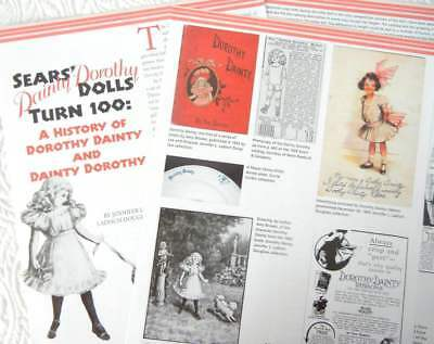 8p History Article + Pics -   1909 Sears Dorothy Dainty Doll 100 Years