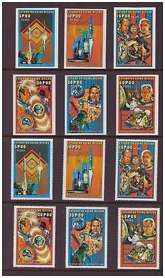 """Guinea Bissau MNH 1976 """"Apollo-Soyuz"""" Space 2 sets imperf & perf. mint  stamps"""
