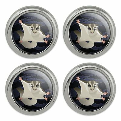 Sugar Glider of the Night Metal Craft Sewing Novelty Buttons - Set of 4