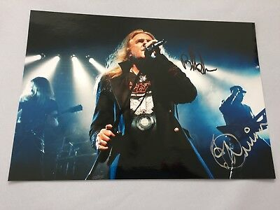 BIFF BYFORD & PAUL QUINN Saxon In-person signed Foto 20 x 30 Autogramm