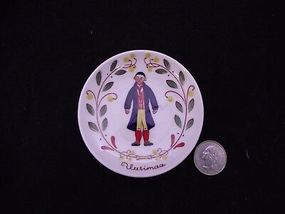 Butter Pat /  Hanger #5 Uusimaa  Hand Painted Arabia Finland National Costumes
