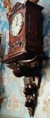 Double Fusee Repeater Bracket Clock On Carved Eagle Wall Bracket
