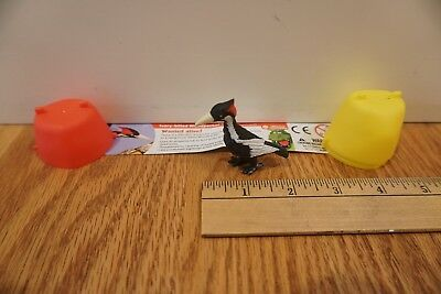 "Yowie Surprise Egg Ivory-billed Woodpecker 2"" Animal Bird Toy Figure Collectible"