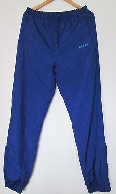 ADIDAS VINTAGE SHELL SUIT PANTS TRACKSUIT BOTTOMS SIZE approx M- L TALL