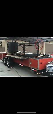 Custom Mobile Bbq Grill Smoker Trailer And More! Santa Maria Style