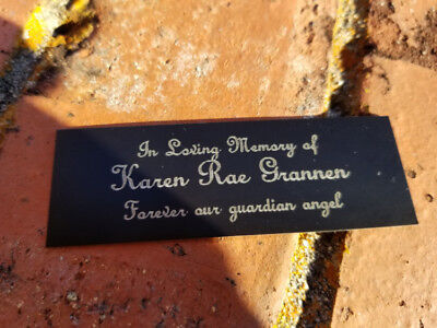 """3"""" x 1"""" Personalized Engraved Outdoor Name Plate Garden Name Plaque Outdoor Sign"""