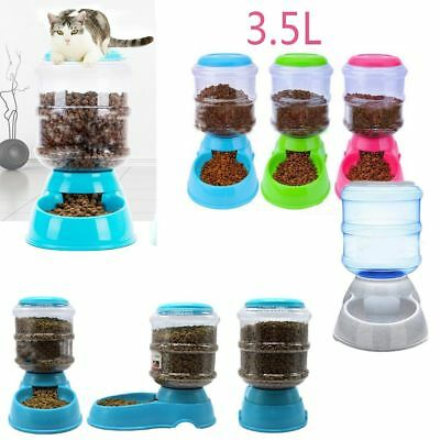 Large Cat Bowl Pet Food Container Dog Automatic Feeder Food Dispenser