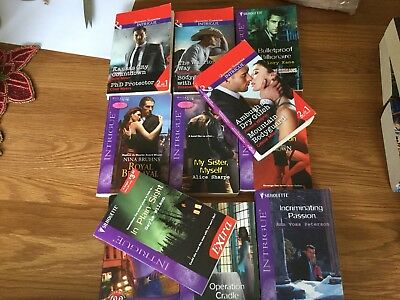 11used Mills And Boon Silhouette Intrigue Books