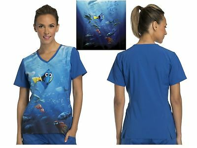 d74c703b87f New Cherokee Finding Dory Tooniforms V-Neck Top in Which Way Is Home?TF627