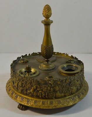 Antique French Empire Gilt Bronze Inkstand