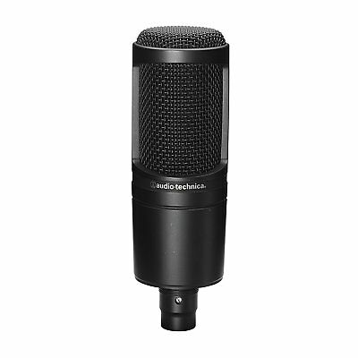 audio-technica AT2020 Cardioid Condenser Microphone black w/ Tracking NEW