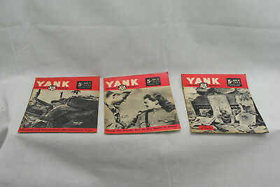 Lot of 3 Yank Army Weekly Magazines as pictures 05-001