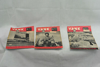 Lot of 3 Yank Army Weekly Magazines as pictures 05-005