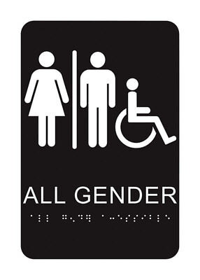 All Gender Restroom Braille Sign