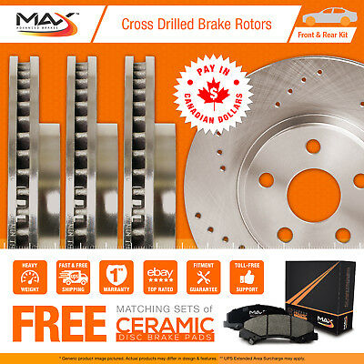 2009 2010 2011 Volvo XC70 (See Desc) Cross Drilled Rotors AND Ceramic Pads F+R
