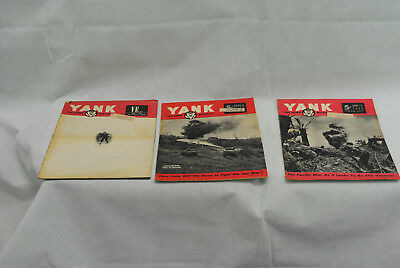 Lot of 3 Yank Army Weekly Magazines as pictures 05-010