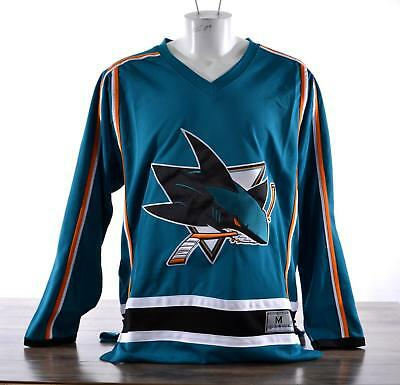 Licensed Official NHL Jersey Mens Hockey Sweater San Jose Sharks Teal Unnamed