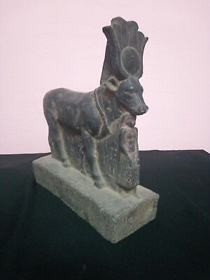 RARE ANTIQUE ANCIENT EGYPTIAN Goddess Sculpture of Hathor Cow 1390–1352 B.c