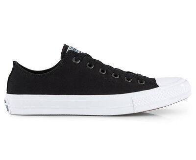 Converse Chuck Taylor Unisex All Star II Ox Canvas Shoe - Black/White