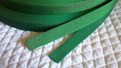 "Polypro Heavyweight Webbing Green 5 yard x 1"" wide strapping trim crafts handle"