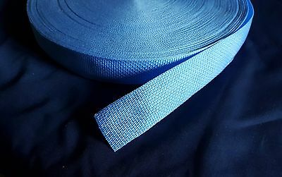 "Polypro Lightweight Webbing Light Sky Blue 5 Yards x 1.5"" strapping trim crafts"