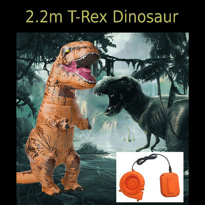 Adult Inflatable Cosplay Suit Jurassic World Park T-Rex Dinosaur Costume AU