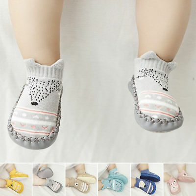 Newborn Baby Girl Soft Sole Cotton Socks Shoes Anti-slip Sneaker Prewalker 0-18M