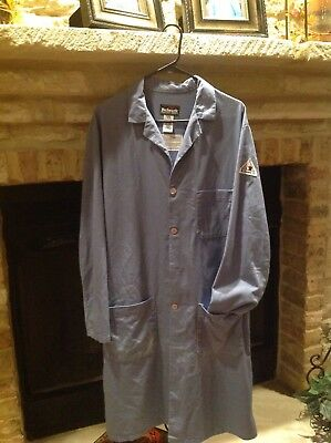 Bulwark Flame Resistant Lab Coat EXCEL FR® Light Blue, style # KEL2LB, ATPV 7.7