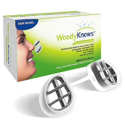 WoodyKnows Super Defense Nose Nasal Filters Reduce Pollen, Dust, Dander 2nd Gen