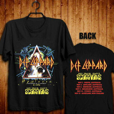 DEF LEPPARD WITH SCORPIONS Hysteria More tour to Australia&New Zealand T shirt