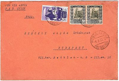 Libya / Italy: Scott, Cyrenaica C6 with overprint LIBIA on Cover 1937
