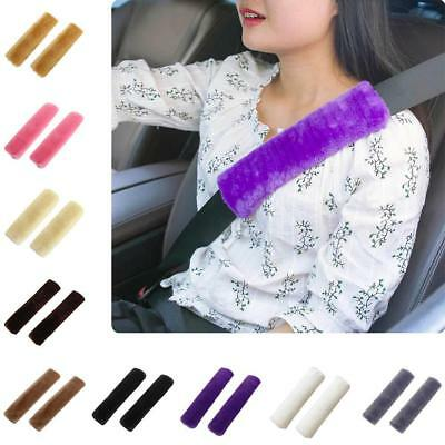2Pcs Car Seatbelt Shoulder Pad Driving Seat Belt Vehicle Plush Auto Seatbelt HY